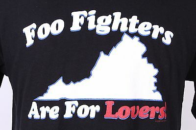 Vtg 2000 Foo Fighters Are For Lovers! Concert T Shirt Nos Ds Mens Large