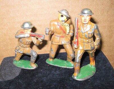 Manoil/barclay Lead Soldier-Three Figures With Tent