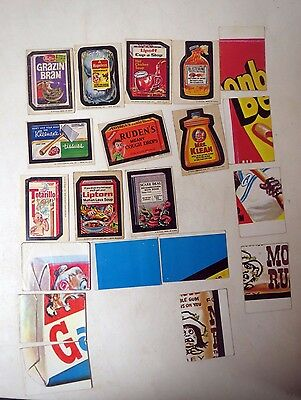 Vintage 1970s WACKY PACKS PACKAGES  LOT of 20 Stickers & Checklists 1st thru 6th