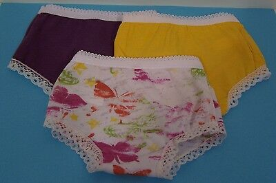 """3 Underwear Panties PURPLE YELLOW PRINT Doll Clothes For 18"""" American Girl (Debs"""