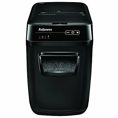 Fellowes AutoMax 130C 130-Sheet Cross-Cut Auto Feed Shredder, for Hands-Free