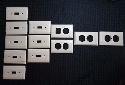Vintage Lot of 12 Plastic Art Deco Light Switch Cover & Power Recepticle Plates