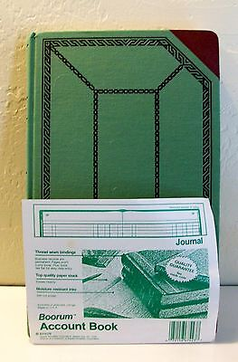 "Boorum Account Book-Journal Ruling- 67,1/8-300-J- 300 Pages- 12,1/2"" X 8"""