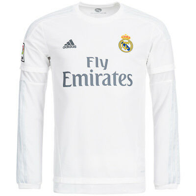 Real Madrid adidas Home Long Sleeve Jersey Football Men's S12653 size XS - 3XL