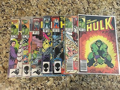 They Incredible Hulk Lot Of Seven Assorted Issues Marvel Comics