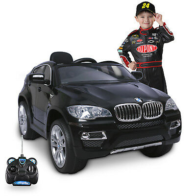 12V Kids Children Electric Ride On Car Toy Licensed BMW X6 Black With Control