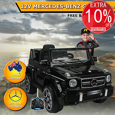 12V Kids Children Electric Ride On Car Toy Licensed Mercedes-Benz G63 AMG Black