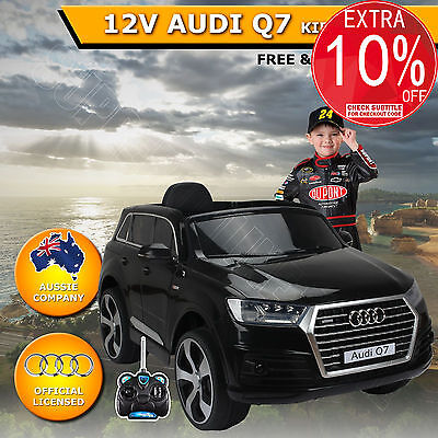 12V Kids Children Electric Ride On Car Toy Licensed AUDI Q7 Black With Control