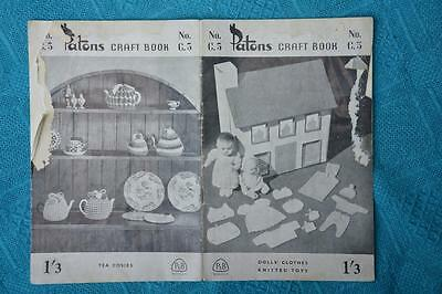 VINTAGE Patons Dolls Clothes + Toys + Tea Cosies RARE Knitting Pattern Book C5