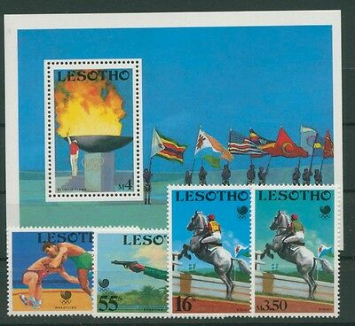 Lesotho 1988 Olympiade Seoul 727/30 Block 55 postfrisch (R22210)