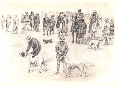Field Trial Hunting Dogs by Marguerite Kirmse 1935 8 New Blank Note Cards