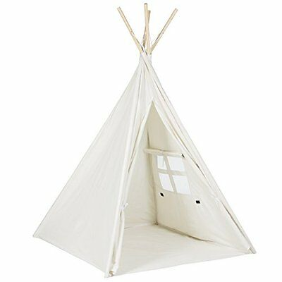 Best Choice Products 6 White Teepee Tent Kids Indian Playhouse Sleeping Dome