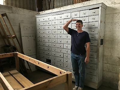 Vintage 108 Drawer Haberdashery Apothecary Cabinet - Can make 3 Smaller Sections