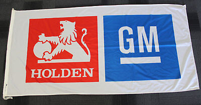 Early Holden Lion & GM Flag Workshop Used Man Cave 177 x 91 cm