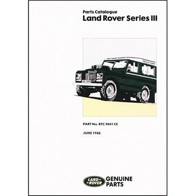 Land Rover Series 3 Parts Catalogue book paper