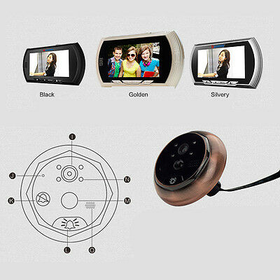 4.3 Inch HD TFT Digital Door Peephole Cam Night Vision Wide Angle + Video Record