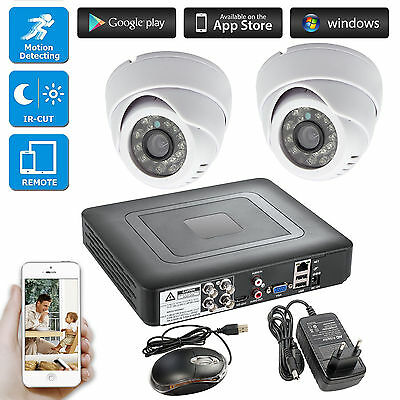 4CH 264.H CCTV DVR Surveillance Security 720P AHD Camera 24 Led,Day/night IR Cut