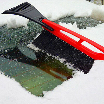 Long Handle ABS Brush With Snow Scraper Outdoor Car Snow Shovel Red and Black GT
