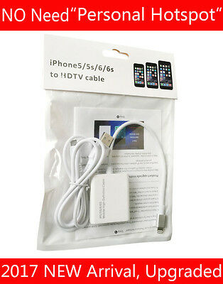 Upgraded Adapter Cable For Lightning iPad Air iPhone 7 6 6S Plus 5 to HDMI HD TV