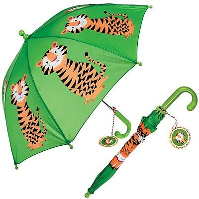 Rex London CHILDRENS UMBRELLA TIGER DESIGN. KIDS GIRLS BOYS BROLLY