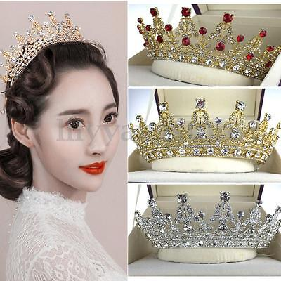Retro Wedding Bridal Crystal Headband Queen Crown Tiara Hair Accessories Prom