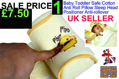 1 Baby Toddler Safe Cotton Anti Roll Pillow Sleep Head Positioner Anti-rollover