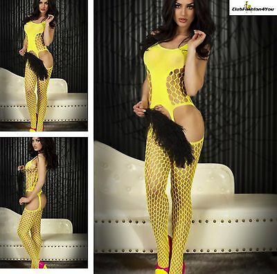 Hot Reizwäsche Fishnet Body Stocking Catsuit Netz Body Unterwäsche |H| 79392-1