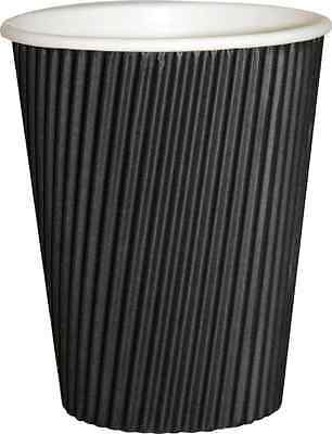 12oz Black Ripple Paper cups x 500 New, but smell damp!