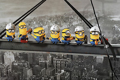 Minions Skyscraper Lunch Picnic Food WALL ART CANVAS FRAMED OR POSTER PRINT