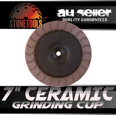 """7"""" Ceramic Diamond Grinding and Polishing Cup Wheel Disc for Concrete"""
