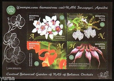 Belarus - 2016 - The Central Botanical Garden, Orchids, s/s