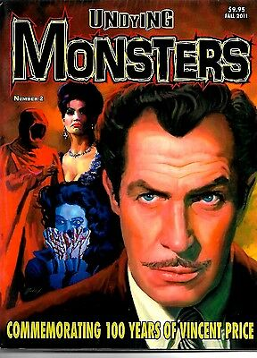 Undying Monsters Magazine #2 Vincent Price Special Issue Ex Condition
