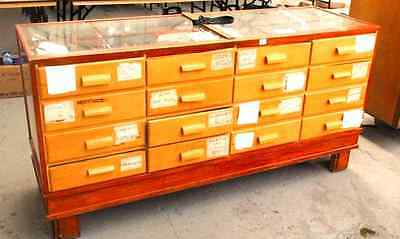 Vintage Harberdashers Cabinet With Drawers