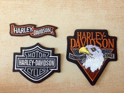 Lot 3 écusson patch harley aigle eagle bar and shield wings ailes