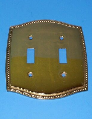 Broadway Supply Heavy Solid Brass Switch Plate Covers 2 Gang Traditional Rope..a