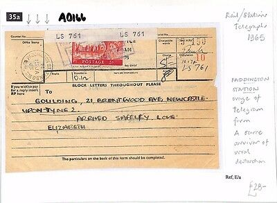 AD166 1965 Rail/Stations Telegraph Newcastle upon Tyne *PADDINGTON*