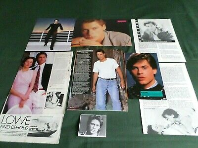 "Rob Lowe - Film Star - ""clippings /cuttings Pack"""
