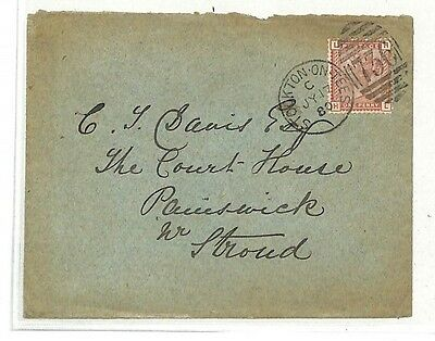 NN366 GB 1880 *STOCKTON-ON-TEES* Painswick Gloucester Cover