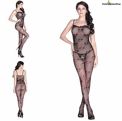 Hot Reizwäsche Fishnet Body Stocking Catsuit Netz Body Unterwäsche |H| 79794