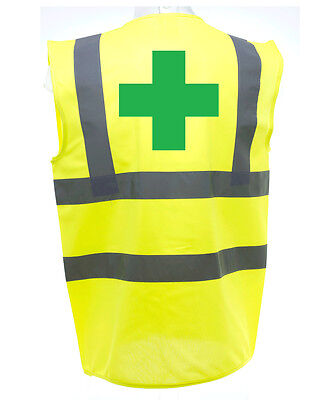 First Aid Cross Hi-Vis Safety Vest Equestrian. High Viz Waistcoat