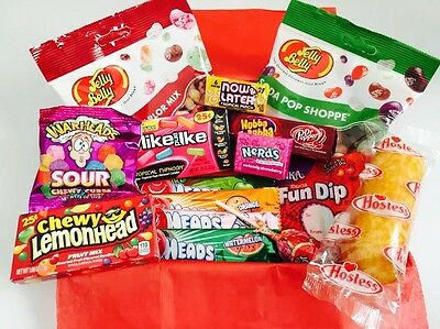 American Candy Sweets Hamper Gift Box Reeses Wonka Twinkies Nerds Plus Free Gift