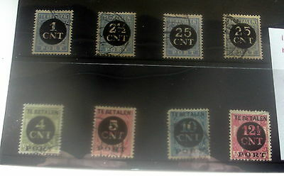 Netherlands Postage Due Stamps, Fine Used, Stated To Catalogue £18.