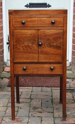 Fine George III mahogany washstand with ebony handles; perfect as a lamp table