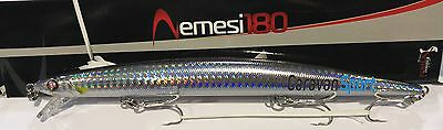 Artificiale Nemesi 180 Ss Colore Blk Spinning Lure Italy Pesca Long Jerk Señuelo