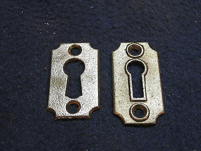 Antique Iron Skeleton Key Hole Escutcheon Cover Plate Mortise Door Lock