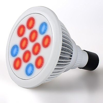 Hydroponic LED Grow Light E27 High Efficient Growing Lamp (3 Blue 9 Red) flower