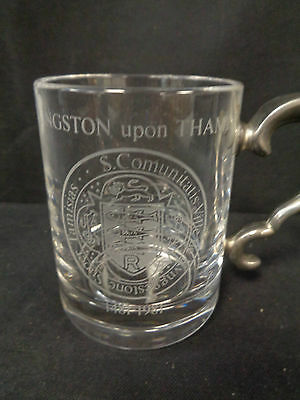 Royale County Lead Crystal  Tankard Royal Charter 500th Anniversary     (SS)