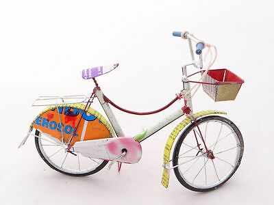 Classic Women's / Bicycle Model Ornament Recycled Tin Cans Free Delivery