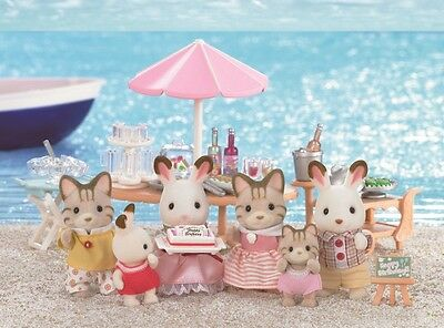 Epoch Calico Critters Sylvanian Families SEASIDE BIRTHDAY PARTY