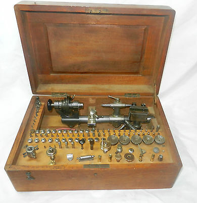 Nice watchmaker's lathe 6mm, Lorch with lots of accessories